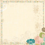 K and Company - 12x12 Paper - Brownie Girl Scouts Collection - Creme Cascade Floral, CLEARANCE