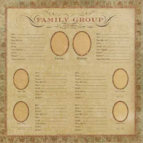 K and Company - Ancestry.com Collection - 12x12 Paper - Family Group Record