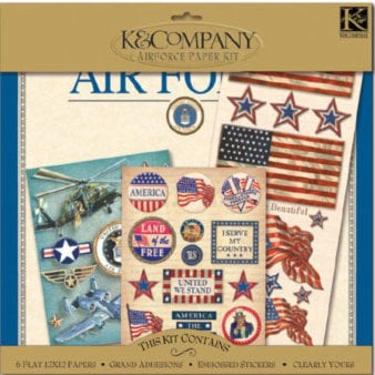 K and Company Paper Kits - Air Force