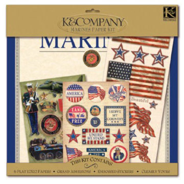 K and Company Paper Kits - Marines