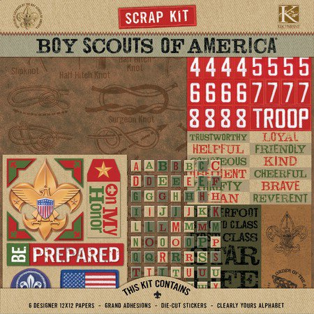 K And Company Boy Scouts Of America Scrap Kit Boy Scout