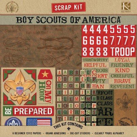 K and Company - Boy Scouts of America - Scrap Kit - Boy Scout