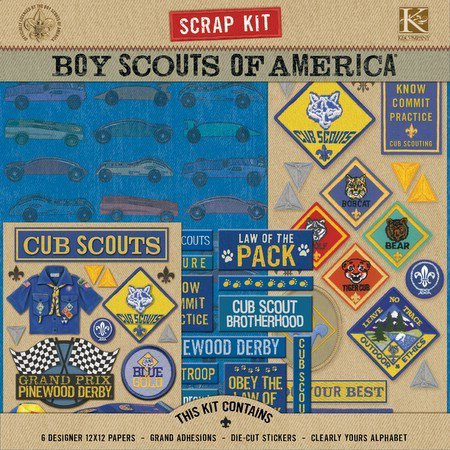 K And Company Boy Scouts Of America Scrap Kit Cub Scout