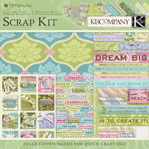 K and Company - Amy Butler Collection - Sola - Scrap Kit, CLEARANCE