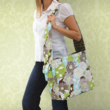 K and Company - Amy Butler Collection - Dancing Mums - Creativity Bag - Fabric Scrapbooking Tote Bag