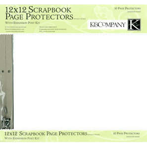 K and Company 12 x 12 Clear Page Protector Refill Kit - 10 Pack