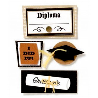 Karen Foster Design - Graduation Collection - Stacked Stickers - Graduation