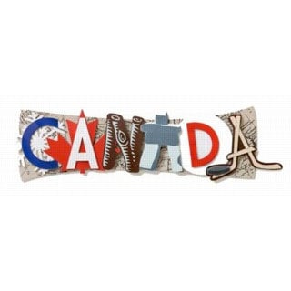 Karen Foster Design - Destination Adhesive Stacked Statement - Canada