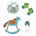 Karen Foster Design - Baby Boy Collection - Stacked Stickers - Baby Boy