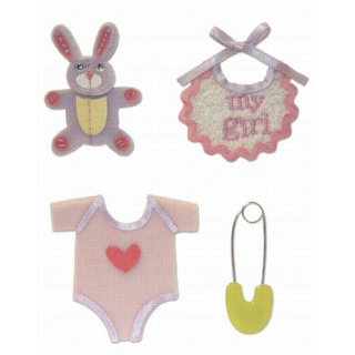 Karen Foster Design - Baby Girl Collection - Stacked Stickers - Baby Girl