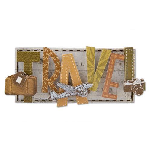 Karen Foster Design - Travel Collection - Short Stack - 3 Dimensional Adhesive Title - Travel