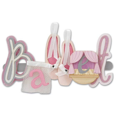Karen Foster Design - Ballet Collection - Short Stack - 3 Dimensional Adhesive Title - Ballet