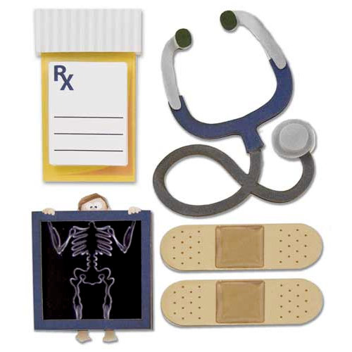Karen Foster Design - Doctor Visit Collection - Stacked Stickers - Doctor Visit