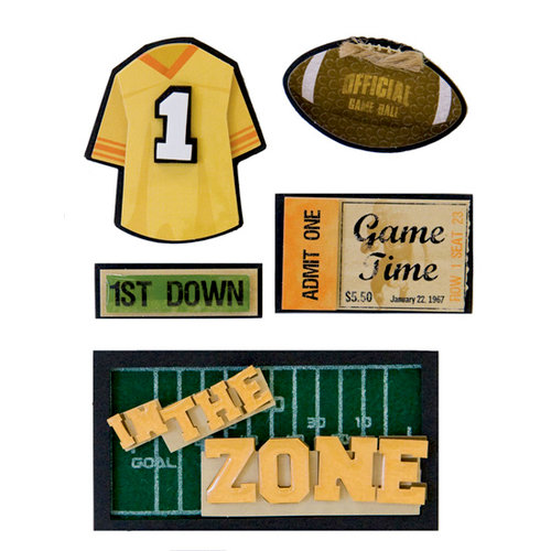 Karen Foster Design - Football Collection - Stacked Stickers - In the Zone