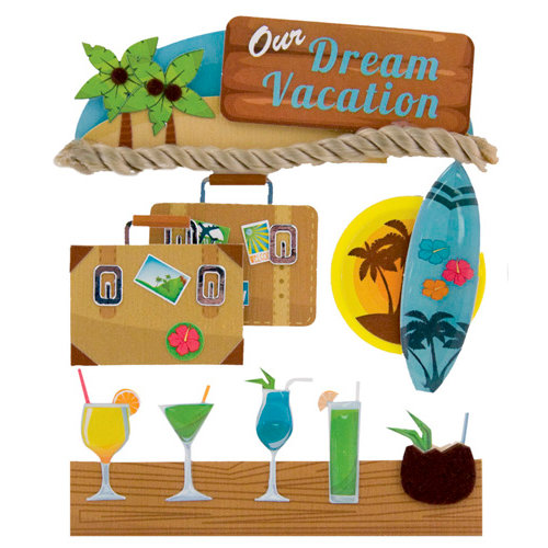 Karen Foster Design - Stacked Stickers - Dream Vacation