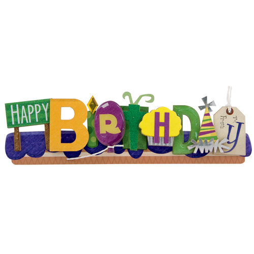 Karen Foster Design - Stacked Statements - Happy Birthday