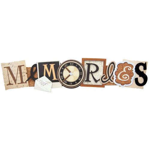 Karen Foster Design - Stacked Statements - 3 Dimensional Adhesive Title - Memories