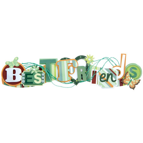 Karen Foster Design - Best Friends Collection - Stacked Statement - 3 Dimensional Adhesive Title - Best Friends