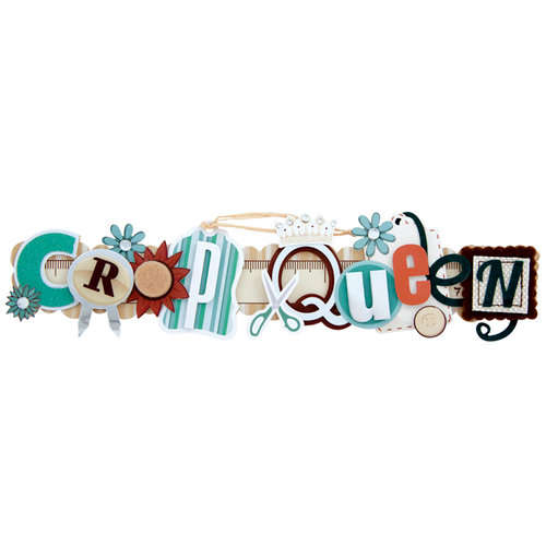 Karen Foster Design - Scrapbooking Collection - Stacked Statement - 3 Dimensional Adhesive Title - Crop Queen