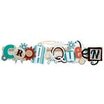 Karen Foster Design - Scrapbooking Collection - Stacked Statement - 3 Dimensional Adhesive Title - Crop Queen