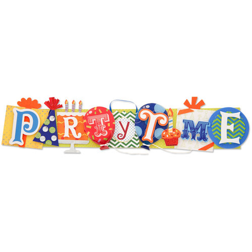 Karen Foster Design - Birthday Collection - Stacked Statement - 3 Dimensional Adhesive Title - Party Time