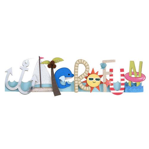 Karen Foster Design - Water Fun Collection - Stacked Statement - 3 Dimensional Adhesive Title - Water Fun