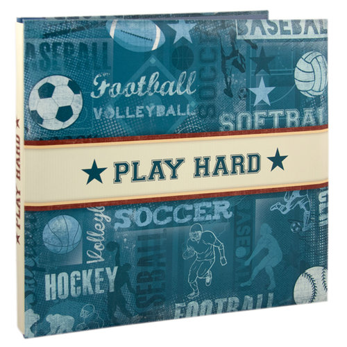 Karen Foster Design - 12 x 12 Postbound Scrapbook Album - Sports