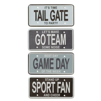 Karen Foster Design - Football Sports Fan Collection - License Plates - Sports Fan