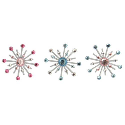 Karen Foster Design - Cowgirl Collection - Sparkle Burst Brads - Stardust