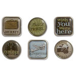 Karen Foster Design - Travel Collection - Bubble Brads - Travel