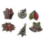 Karen Foster Design - Christmas Collection - Treasure Brads - Metal - Christmas, CLEARANCE