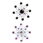 Karen Foster Design - Sparkle Swirl Burst Brads - Meteor Shower