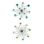 Karen Foster Design - Sparkle Swirl Burst Brads - Coastal Breeze