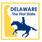 Karen Foster Design - STATE-ments Collection - Self Adhesive Metal Plates - Delaware