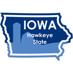Karen Foster Design - STATE-ments Collection - Self Adhesive Metal Plates - Iowa
