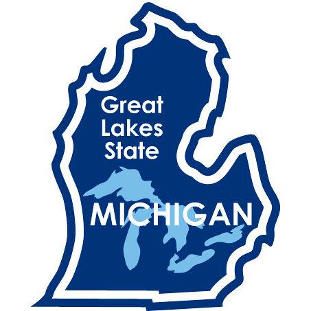Karen Foster Design - STATE-ments Collection - Self Adhesive Metal Plates - Michigan