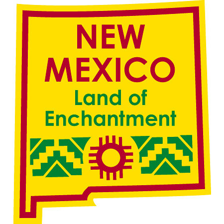 Karen Foster Design - STATE-ments Collection - Self Adhesive Metal Plates - New Mexico
