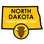 Karen Foster Design - STATE-ments Collection - Self Adhesive Metal Plates - North Dakota