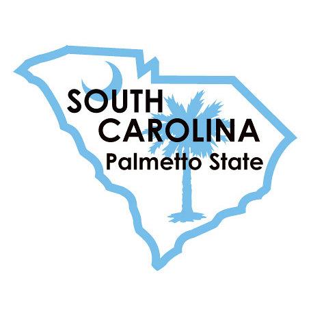 Karen Foster Design - STATE-ments Collection - Self Adhesive Metal Plates - South Carolina