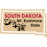 Karen Foster Design - STATE-ments Collection - Self Adhesive Metal Plates - South Dakota