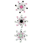 Karen Foster Design - Sparkle Swirl Burst Brads - Pop Culture
