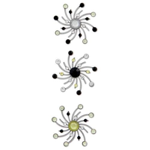 Karen Foster Design - Sparkle Swirl Burst Brads - Bumble Bee