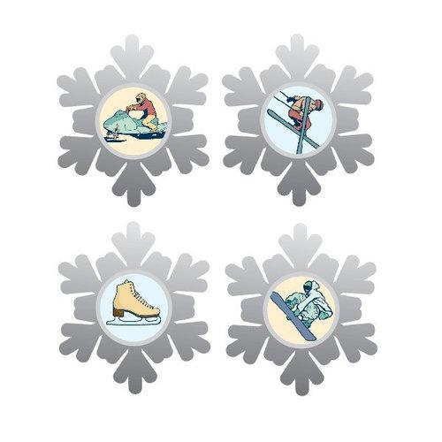 Karen Foster Design - Winter Sports Collection - Brads - Winter