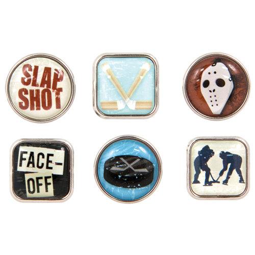 Karen Foster Design - Hockey Collection - Bubble Brads - Hockey
