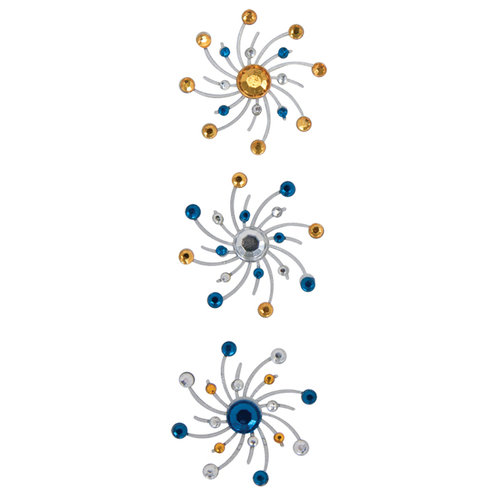Karen Foster Design - Sparkle Swirl Burst Brads - Taffy