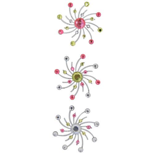 Karen Foster Design - Sparkle Swirl Burst Brads - Cotton Candy