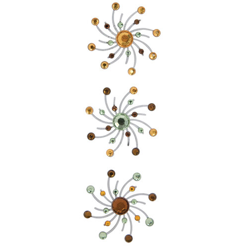 Karen Foster Design - Sparkle Swirl Burst Brads - Carmel Apple