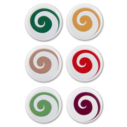 Karen Foster Design - Christmas Collection - Swirl Dot Brads - Playful