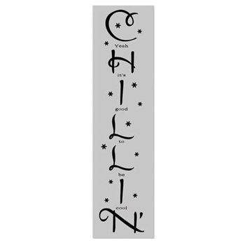Karen Foster Design - Fun in the Snow Collection - Word Rub On - Chillin