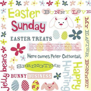Karen Foster Design - Rub Ons - Easter Collection - Easter Sunday